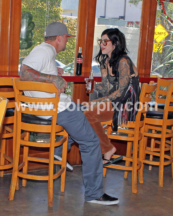 **ALL ROUND PICTURES FROM SOLARPIX.COM**.**SYNDICATION RIGHTS FOR UK, AUSTRALIA, DENMARK, PORTUGAL, S. AFRICA, SPAIN & DUBAI Jesse James and Kat Von D go an a date to Pinches Tacos holding hands and kissing, Pinches Tacos, West Hollywood, USA. 5 September 2010..This pic: Jesse James and Kat Von D..JOB REF: 12043 PHZ Candids     DATE: 04_09_2010.**MUST CREDIT SOLARPIX.COM OR DOUBLE FEE WILL BE CHARGED**.**MUST NOTIFY SOLARPIX OF ONLINE USAGE**.**CALL US ON: +34 952 811 768 or LOW RATE FROM UK 0844 617 7637**