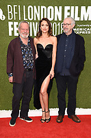 "Terry Gilliam, Olga Kurylenko and Jonathan Pryce<br /> arriving for the London Film Festival screening of ""The Man Who Killed Don Quixote"" at the Embankment Gardens<br /> <br /> ©Ash Knotek  D3445  16/10/2018"