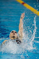 Katinka Hosszu of Hungary competes during the Women's 100m Backstroke final at the FINA Champions Swim Series at the Danube Arena in Budapest, Hungary on May 12, 2019. ATTILA VOLGYI