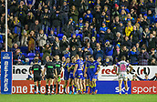 23rd March 2018, Halliwell Jones Stadium, Warrington, England; Betfred Super League rugby, Warrington Wolves versus Wakefield Trinity; Thw Warrington crowd celebrate their teams fourth try scored by Mike Cooper