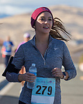 Gabriella Figueroa runs during the Run with the Girls event at Damonte Ranch High School on Sunday, Nov. 5, 2017.