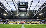 Solna 2015-07-26 Fotboll Allsvenskan AIK - IF Elfsborg :  <br /> Vy &ouml;ver Friends Arena under lineup inf&ouml;r matchen mellan AIK och IF Elfsborg <br /> (Foto: Kenta J&ouml;nsson) Nyckelord:  AIK Gnaget Friends Arena Allsvenskan Elfsborg IFE inomhus interi&ouml;r interior supporter fans publik supporters