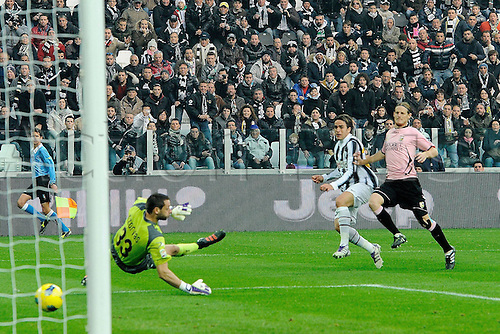 20.11.2011. Turin, Italy.  Series A Juventus Palermo   Photo shows the Goal from Alessandro Matri