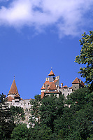 Famous Dracula Castle called Bran Castle in Bran Romania in Transylvania