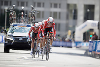 last kilometer for Team Lotto-Soudal<br /> <br /> Elite Men&rsquo;s Team Time Trial<br /> UCI Road World Championships Richmond 2015 / USA