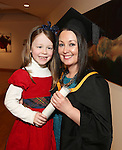 19/1/2015   (with compliments)  Attending the University of limerick conferrings on Monday afternoon were Charlotte Long,Clonlara conferred with an MSc Human Resource Management and her daughter Mia(6).   Picture Liam Burke/Press 22