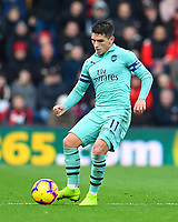 Lucas Torreira of Arsenal during AFC Bournemouth vs Arsenal, Premier League Football at the Vitality Stadium on 25th November 2018