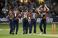Essex players celebrate the wicket of Murray Goodwin - Essex Eagles vs Sussex Sharks - Friends Life T20 Cricket at the Ford County Ground, Chelmsford, Essex - 28/06/12 - MANDATORY CREDIT: Gavin Ellis/TGSPHOTO - Self billing applies where appropriate - 0845 094 6026 - contact@tgsphoto.co.uk - NO UNPAID USE.