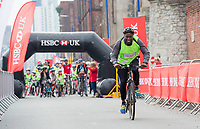Picture by Allan McKenzie/SWpix.com - 24/09/2017 - Cycling - HSBC UK City Ride Liverpool - Albert Dock, Liverpool, England - Riders on the Sir Chris Hoy Speed Challenge, HSBC UK, branding.