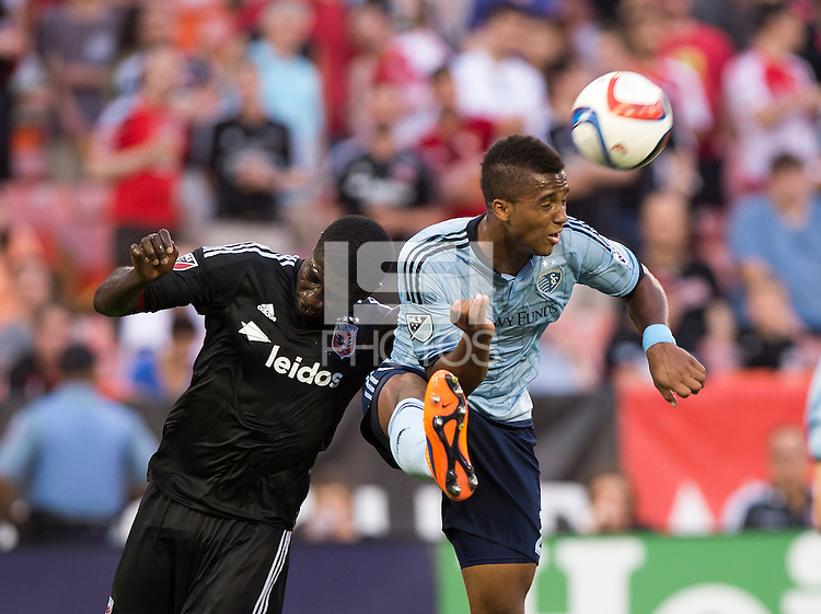 Washington, DC- May 2, 2015: D.C. United tied Sporting KC 1-1 during their Major League Soccer (MLS) match at the RFK Stadium.