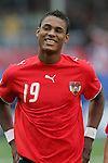 14 July 2007: Rubin Okotie. Austria's Under-20 Men's National Team defeated the Under-20 Men's National Team of the United States 2-1 after extra time in a  quarterfinal match at the National Soccer Stadium (also known as BMO Field) in Toronto, Ontario, Canada during the FIFA U-20 World Cup Canada 2007 tournament..