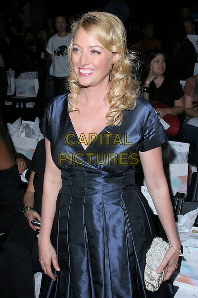 VIRGINIA MADSEN.The Mercedes-Benz Spring 2007 L.A. Fashion Week at Smashbox Studios, Los Angeles, California, USA,.19 October 2006..half length navy blue dress.Ref: ADM/ZL.www.capitalpictures.com.sales@capitalpictures.com.©Zach Lipp/AdMedia/Capital Pictures.