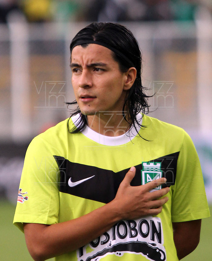 BOGOTA-COLOMBIA-20-04-2013.  Sherman Cárdenas jugador del Atlético Nacional. Photo / VizzorImage / Felipe Caicedo / Staff . Sherman  Cárdenas player of Atletico Nacional. ( Photo / VizzorImage / Felipe Caicedo / Staff).