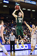 Baltimore, MD - William & Mary Tribe guard David Cohn (34) hits a three pointer during game against Hofstra Pride at the CAA Basketball Tournament at the Royal Farms Arena in Baltimore, Maryland on March 6, 2016.  (Photo by Philip Peters/Media Images International)