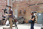 Gianluca Randazzo & Austin Peltier - - Empire The Series films on set June 3, 2012  in Brooklyn, New York. (Photo by Sue Coflin/Max Photos)