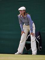 01-07-13, England, London,  AELTC, Wimbledon, Tennis, Wimbledon 2013, Day seven, lines woman<br /> <br /> <br /> <br /> Photo: Henk Koster