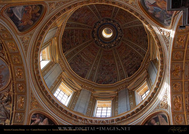 Sistine Chapel Dome Carlo Fontana Frescoes Cesare Nebbia Giovanni Guerra Santa Maria Maggiore Rome