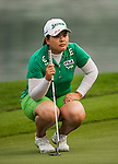 TAOYUAN, TAIWAN - OCTOBER 27:  Inbee Park of South Korea lines up a putt on the 18th green during the day three of the Sunrise LPGA Taiwan Championship at the Sunrise Golf Course on October 27, 2012 in Taoyuan, Taiwan.  Photo by Victor Fraile / The Power of Sport Images