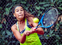 Hilversum, Netherlands, August 8, 2018, National Junior Championships, NJK, Anicia Hammoud (NED)<br /> Photo: Tennisimages/Henk Koster