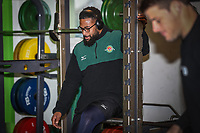 Ealing Trailfinders players prepare for the Championship Cup match between Ealing Trailfinders and Richmond at Castle Bar , West Ealing , England  on 15 December 2018. Photo by David Horn.