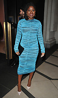 Clara Amfo at the LFW (Men's) a/w 2019 GQ Dinner, Brasserie of Light, Selfridges, Duke Street, London, England, UK, on Monday 07 January 2019.<br /> CAP/CAN<br /> &copy;CAN/Capital Pictures