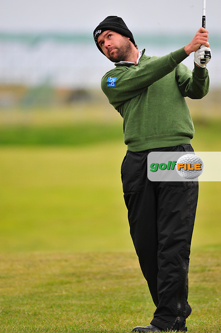 Robert Rock plays his 2nd shot on the 16th hole during Round 3 of the 3 Irish Open on 16th May 2009 (Photo by Eoin Clarke/GOLFFILE)