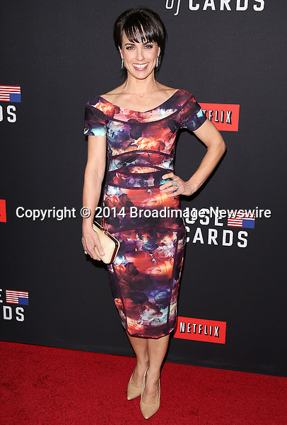 Pictured: Constance Zimmer<br /> Mandatory Credit &copy; Frederick Taylor/Broadimage<br /> &quot;House Of Cards&quot; - Season 2 Special Screening<br /> <br /> 2/13/14, Los Angeles, California, United States of America<br /> <br /> Broadimage Newswire<br /> Los Angeles 1+  (310) 301-1027<br /> New York      1+  (646) 827-9134<br /> sales@broadimage.com<br /> http://www.broadimage.com