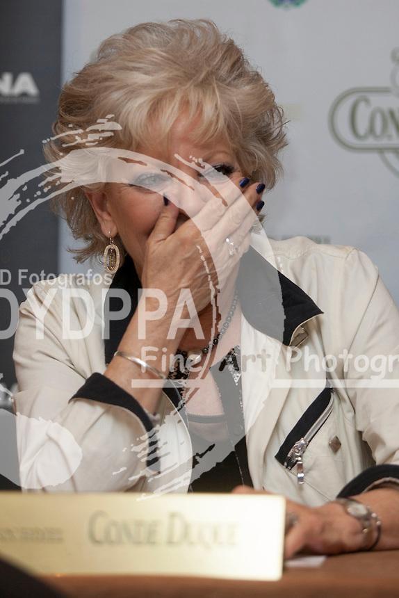 """Nocturna"" Madrid Fantastic Film Festival press conference ""La Mujer que Hablaba con los Muertos"" in photo actress Lone Fleming film at Conde Duque Hotel in Madrid on May 30, 2014. Photo by Nacho Lopez/ DyD Fotografos-DYDPPA"