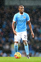Fernandinho during the Barclays Premier League Match between Manchester City and Swansea City played at the Etihad Stadium, Manchester on 12th December 2015