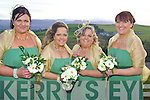 Bridesmaids at the wedding of Grainne Power and Timmy O'Sullivan on Saturday at the Ballyroe Heights Hotel were Majella O'Sullivan, Deirdre Power, Siobha?n Power and Tania O'Sullivan.