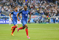 Djibril Sidibe (Monaco) of France celebrates scoring a goal to give his side a 2 1 lead during the International Friendly match between France and England at Stade de France, Paris, France on 13 June 2017. Photo by David Horn/PRiME Media Images.