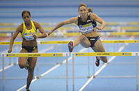 Photo: Ady Kerry/Richard Lane Photography..Aviva Grand Prix. 21/02/2009. .Lo Lo Jones wins the 60m hurdles
