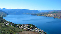 A view from Chelan Butte of Lake Chelan.