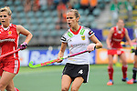 The Hague, Netherlands, June 10: Jana Teschke #4 of Germany gestures during the field hockey group match (Women - Group B) between USA and Germany on June 10, 2014 during the World Cup 2014 at Kyocera Stadium in The Hague, Netherlands. Final score 1-3 (0-0) (Photo by Dirk Markgraf / www.265-images.com) *** Local caption ***