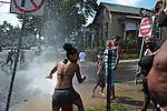 Open fire hydrant. Syracuse, NY