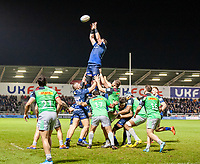 3rd January 2020; AJ Bell Stadium, Salford, Lancashire, England; English Premiership Rugby, Sale Sharks versus Harlequins; Sale win a line out - Editorial Use