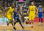 07.10.2018, EWE Arena, Oldenburg, GER, BBL, Pokal, Achtelfinale, EWE Baskets Oldenburg vs Science City Jena,, im Bild<br /> am Ball.....<br /> Will CUMMINGS (EWE Baskets Oldenburg #3 ) Philipp SCHWETHELM(EWE Baskets Oldenburg #33 )<br /> Dru JOYCE ( Science City Jena #25 )<br /> Foto &copy; nordphoto / Rojahn
