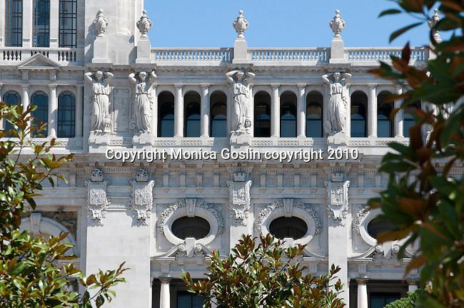 City Hall on the Avenida dos Aliados in Porto, Portugal.