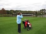 LIEREN - HenK Koster met afstandsmeter. . Golf- en Businessclub De Scherpenbergh. COPYRIGHT KOEN SUYK