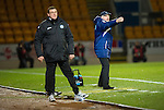 St Johnstone v Hearts..15.12.12      SPL.John McGlynn shouts.Picture by Graeme Hart..Copyright Perthshire Picture Agency.Tel: 01738 623350  Mobile: 07990 594431