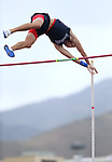 Coronado's Keaton Daniel clears 15' in the pole vault to tie for the title at the NIAA Track & Field Championships at Carson High in Carson City, Nev., on Friday, May 18, 2018. Cathleen Allison/Las Vegas Review-Journal
