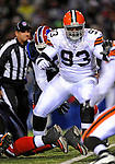 17 November 2008:  Cleveland Browns' defensive tackle Louis Leonard in action against the Buffalo Bills at Ralph Wilson Stadium in Orchard Park, NY. The Browns defeated the Bills 29-27 in the Monday Night AFC matchup. *** Editorial Sales Only ****..Mandatory Photo Credit: Ed Wolfstein Photo