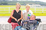 Donie O'Carroll, Geraldine Moynihan and Noreen Carroll from Tralee enjoying the Listowel Races on Sunday