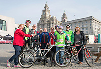 Picture by Allan McKenzie/SWpix.com - 24/09/2017 - Cycling - HSBC UK City Ride Liverpool - Albert Dock, Liverpool, England - Neil & Lora Fachie with Cllr Tim Beaumont, Hannah Kennedy & Wendy Simon.
