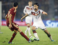 Spain's Bruno (l) and Germany's Khedira during international friendly match.November 18,2014. (ALTERPHOTOS/Acero) /NortePhoto<br />