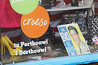 Pictured: An Elvis record in the Tenovus Charity shop. Sunday 29 September 2019<br /> Re: Porthcawl Elvis Festival in south Wales, UK.