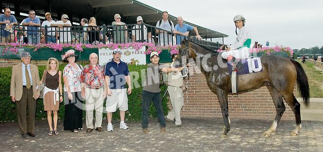 Love of Flying winning at Delaware Park on 7/14/12