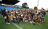 Premier 1 Champions for 2019 Bombay. Counties Manukau Premier 1 McNamara Cup Final between Ardmore Marist and Bombay, played at Navigation Homes Stadium on Saturday July 20th 2019.<br />  Bombay won the McNamara Cup for the 5th time in 6 years, 33 - 18 after leading 14 - 10 at halftime.<br /> Photo by Richard Spranger.