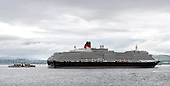 Followed by Glasgow's own PS Waverley, Cunard's Queen Victoria sails up the Clyde on its first ever port of call in Scotland, when it arrived at Greenock today (Wed). The 90,000 tonne vessel docked at The Ocean Terminal on Wednesday, part of an eleven day UK wide tour the luxury liner will make on its maiden voyage. It will take in Dublin, Belfast, Cobh and Liverpool, among other ports, on its way - Picture by Donald MacLeod 28.07.10 - mobile 07702 319 738 - clanmacleod@btinternet.com