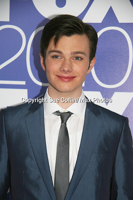 Chris Colfer stars in GLEE as he attends the FOX 2010 Programming Presentation (Upfronts) Post-Party on May 18, 2010 at Wollman Rink in Central Park, New York City, New York.  (Photo by Sue Coflin/Max Photos)